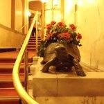 Qualche scalino all'ingresso