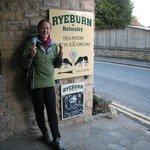 Sampling the lovely ice-creams from Ryeburn of Helmsley