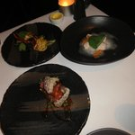 3 starters in order -tuna to die for, marron (crayfish) delicious & prawn dumplings too fishy