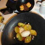 Dessert - petit fours delicious and ice cream and peaches; yum