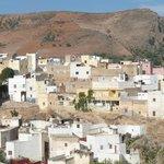 vue du village de Bhalil depuis la terrasse