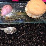 Macaron figue navette et sa glace