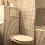 salle de bain avec bainoire