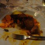 Cinghale-- wild boar stew.