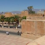 View of the High Atlas Mountains from the town wall