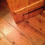 The floors and doors are hand scraped wood