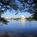 Jefferson Memorial from the opposite side of the tidal pond