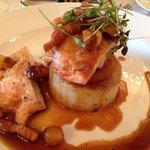 Delicious roast chicken main course