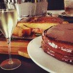 Champagne & chocolate cake