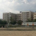 """Отель """"Сорра Даурада""""Вид с пляжа."""