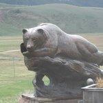 Sleeping bear sculpture