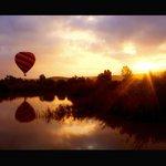 Vuelo en globo al amanecer sobre el río Guadiamar (Sanlúcar La Mayor) foto Zú Sánchez