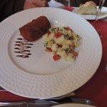 pied de cochon et salade de pommes de terre