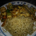 Yu Xiang Prawns with noodles