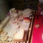 vue sur la plateau de fromages