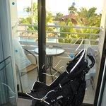 Der winzige Balkon der völlig überteuerten Duplex-Suite