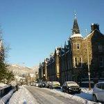 Snowy day in Birnam