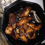 The Hot wings, this is their 'good' side, the other side of them was completely black