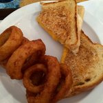 Grilled Cheese & Onion Rings!