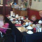 The Girls having Breakfast, With Grandad & Nanna Renee