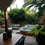 The private outdoor area of the Oceanview Suite