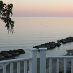 Lake Erie before sunrise, from the Beach House deck
