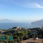 colazione davanti al Vesuvio