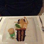 Dessert with shot