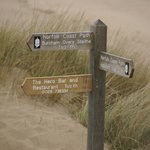 this way from overy beach