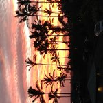 Sunrise outside of the villa
