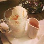 Espresso over ice cream to finish