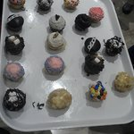 Their many different mini cupcakes