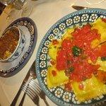 Lasagna and ravioli