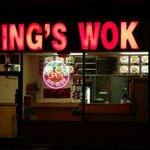 King's WOK seen at night
