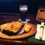 One of our dishes with a cold pint of Guinness