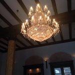 beautiful chandelier in the lobby