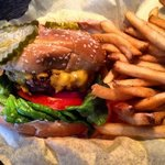 1/2 lb cheeseburger & fries