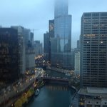 Chicago river view from our room