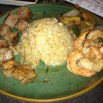 Steak and shrimp combo