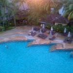 poolside view from room