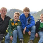 Bruce and our boys in Quiraing
