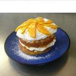 Pastel de mango.. lo preparamos en temporada