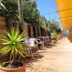 Guest patio area