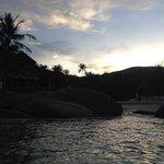Evening beach line
