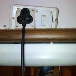 Broken electric socket