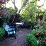 Private garden off the Carriage House