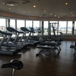 Very modern gym with a view