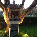 Shrine for good wishes on the hotel ground