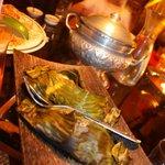 papillote de poisson au curry rouge