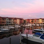 Morning light over the marina at Naples Bay Resort